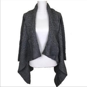 Michael Kors Dark Gray Knit Wool Cardigan Size L